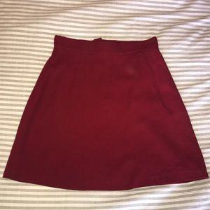 Bebe vintage wool mini skirt